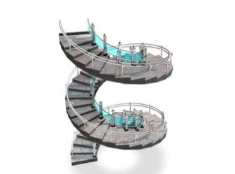 الدرج الحلزوني الحديث