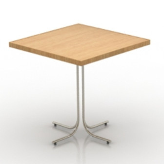 Simple Square Table 3d Max Model Free