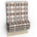 Plaid Curtains 3d Max Model