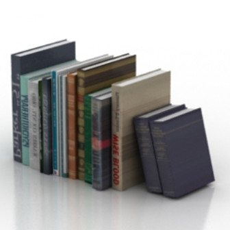 free book model 3d max