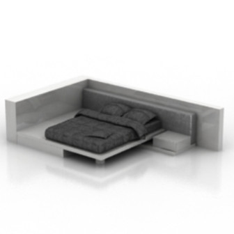 Furniture Design Black Bed 3d Max Model Free