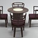 طاولة الشاي الخشبية العتيقة