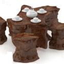 Mesa de chá de madeira chinesa