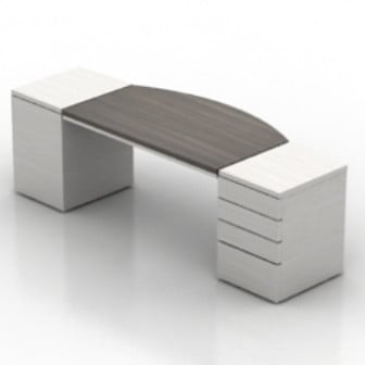 White Wooden Office Desk 3d Max Model Free 3ds Max Free