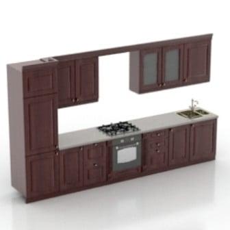 Modern Kitchen Cabinet Free 3d Model 3ds Max Open3dmodel 18219