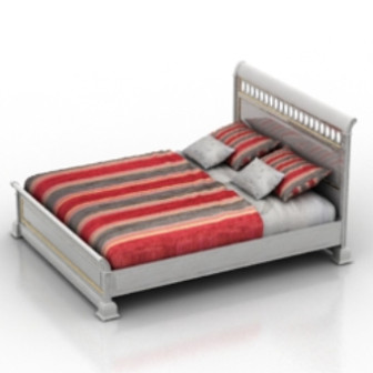 Classic Bed Furniture 3d Max Model Free