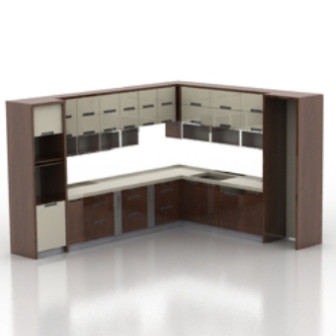 European Kitchen Cabinet 3d Max Model