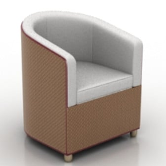 Brown sofa chair design 3d max model 3ds max free for Chair design 3ds max