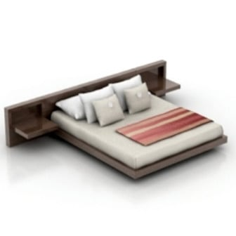 Wood Bed Design 3d Max Model Free