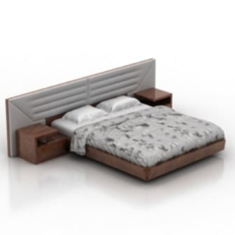 Classic Double Bed 3d Max Model Free