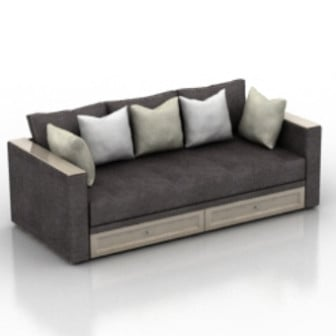 Modern Style Luxury Sofa Free 3d Model - .3ds, .Max - Open3dModel - 18353