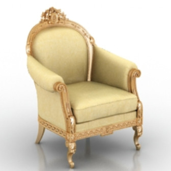 European Luxury Sofa Chair 3d Max Model Free