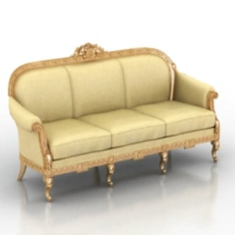 European Luxury Sofa 3d Max Model Free