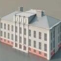 School Building 3d Max Model