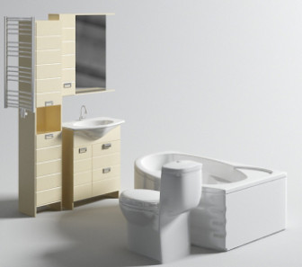 3D Models Bathroom Appliances Collection