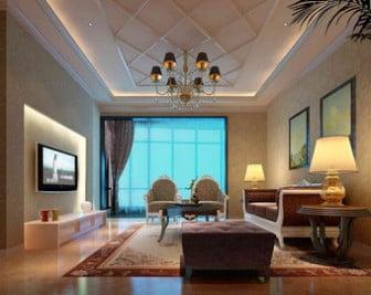 Modern European Living Room Scene 3d Max Model Free