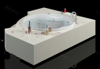 Luxury Bathtub 3d Max Model Free