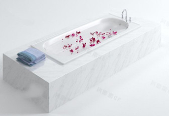 Luxury Bathtub with Flower 3d Max Model Free