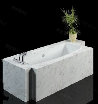 Luxurious Marble Bathtub 3d Max Model Free