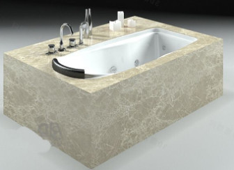Luxurious Stone Bathtub 3d Max Model Free