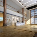 Office Lobby Design Interior Scene