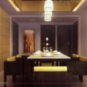 Warm Style Kitchen Dining Room 3d Max Interior Scene