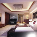 Simple Design Chinese Living Room Interior Scene 3dsMax