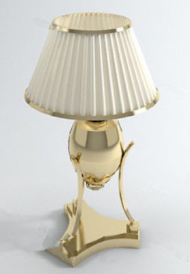 White Luxury Lamp 3d Max Model Free