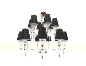 Crystal Glass Chandelier 3d Max Model Free