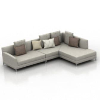 Luxury Living Room Sofa 3d Max Model Free