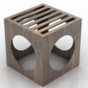 Cadeira criativa de madeira