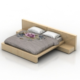 Double Wooden Bed 3d Max Model Free
