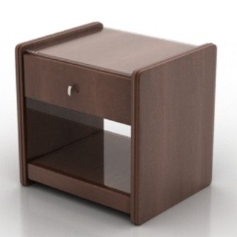 European Dark Brown Bedside Tables 3dsMax Model