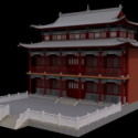 Temple Hall Chinese 3d Max Model Free