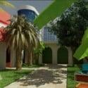 Tropical House Garden 3dsmax Exterior Scene