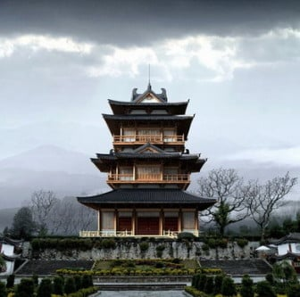 Chinese Traditional Pavilion Tower