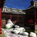 Mur de la cour du cloître chinois