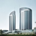 Modern High-rise Building Exterior 3dsmax Scene