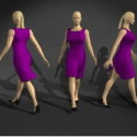 Carácter de mujeres caminando
