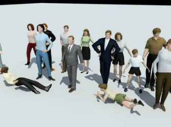 3dsMax Model People Characters