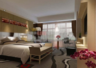 Scene hotellihuoneiden sisustus kohtaus