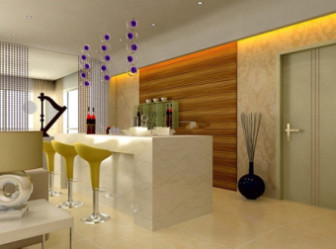 Bar and Dining Room Design Interior Scene