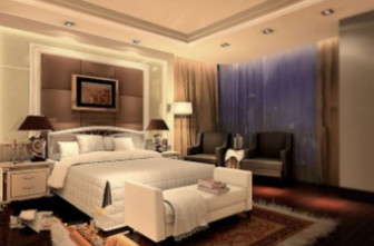 Modern Design Bedroom Interior Scene