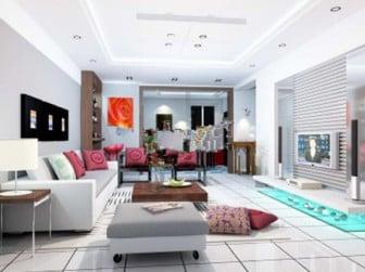 Comfortable Living Room Interior Scene