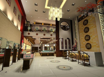 Luxury Jewelry Store Interior Scene