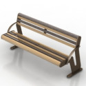 Wooden Park Bench  Free