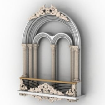 Vintage Castle Windows 3d Max Model Free