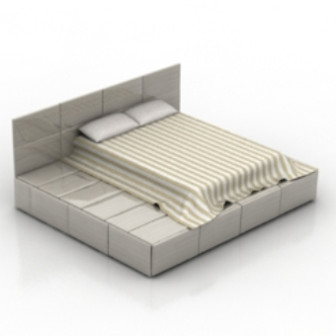 Simple And Stylish European-style Bed 3d Max Model Free
