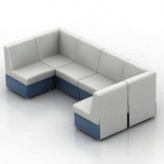 White Sofa Fashion 3d Max Model Free People