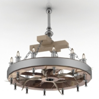 Metallinen pyöreä kattokruunu ilmainen